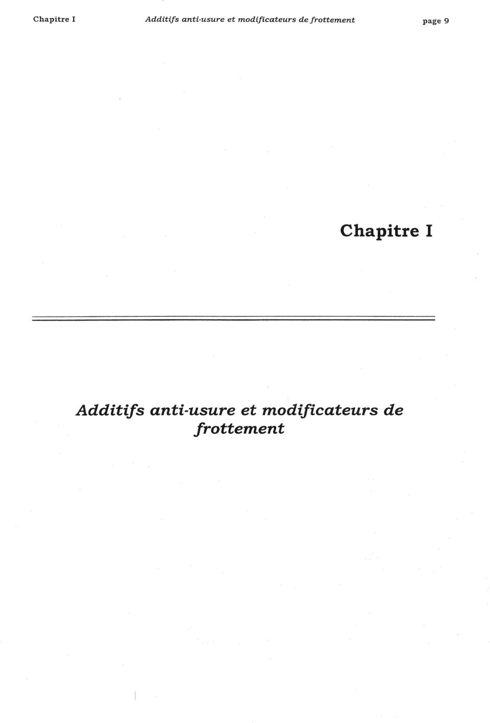 de frottement page 9 Additifs
