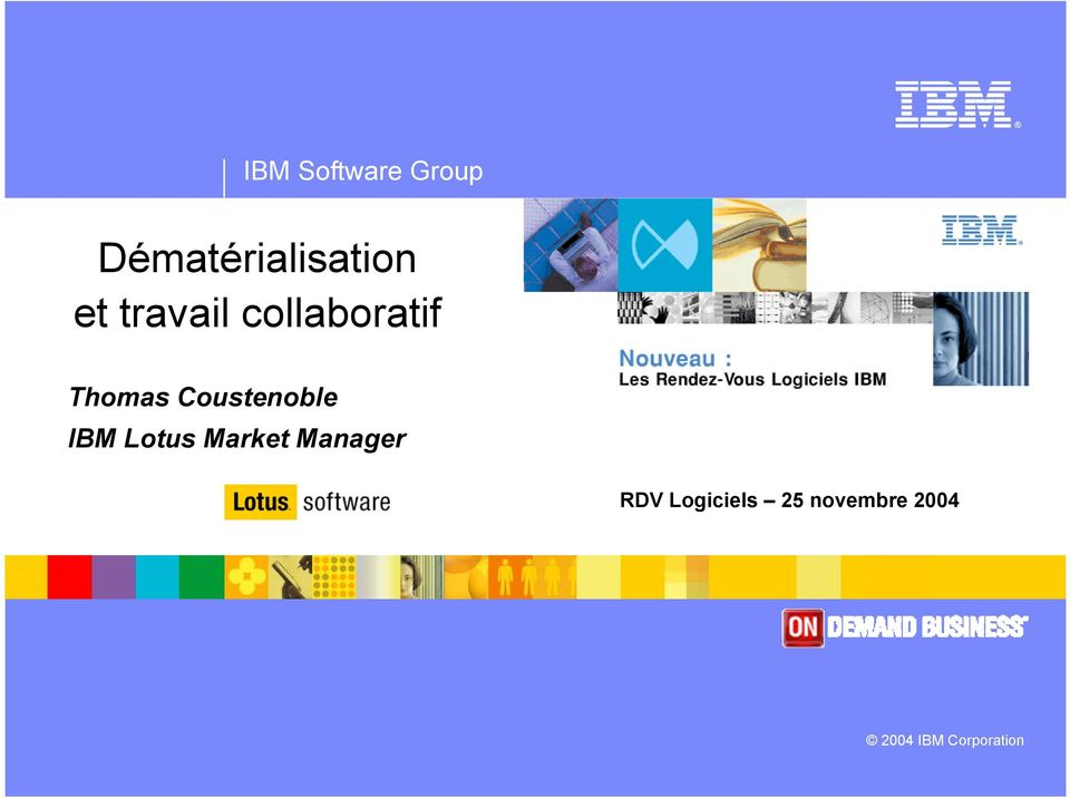 Coustenoble IBM Lotus Market Manager