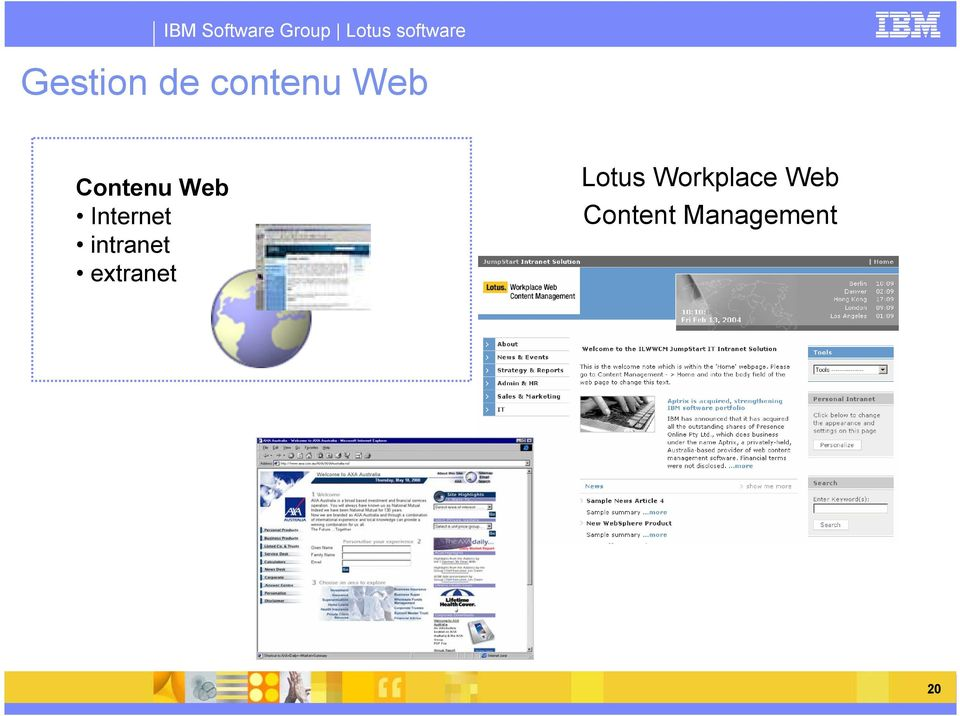 intranet extranet Lotus