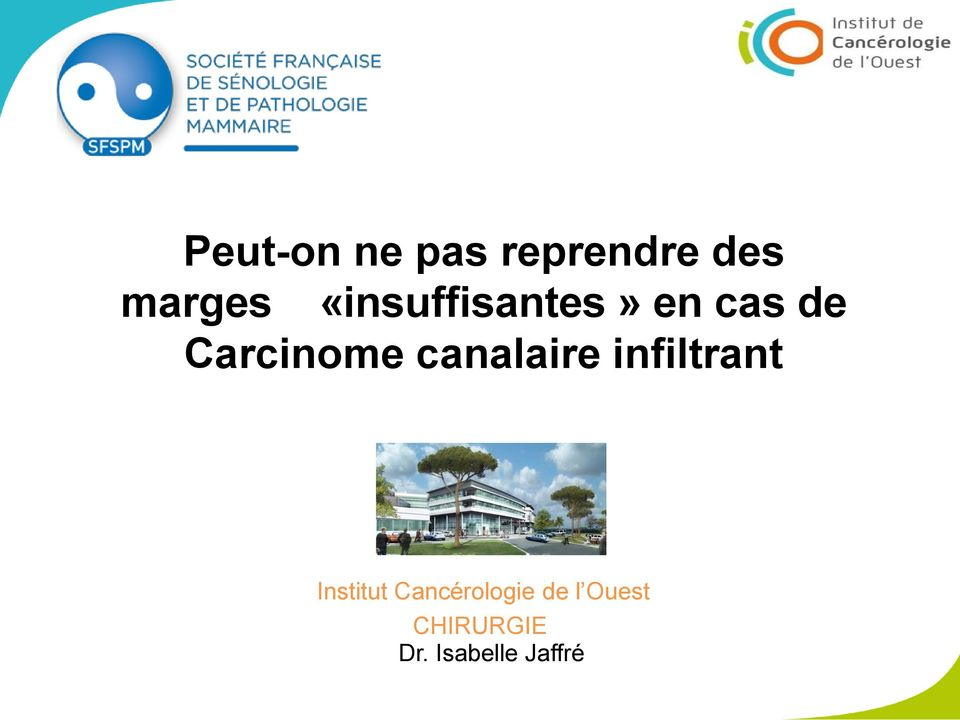 canalaire infiltrant Institut