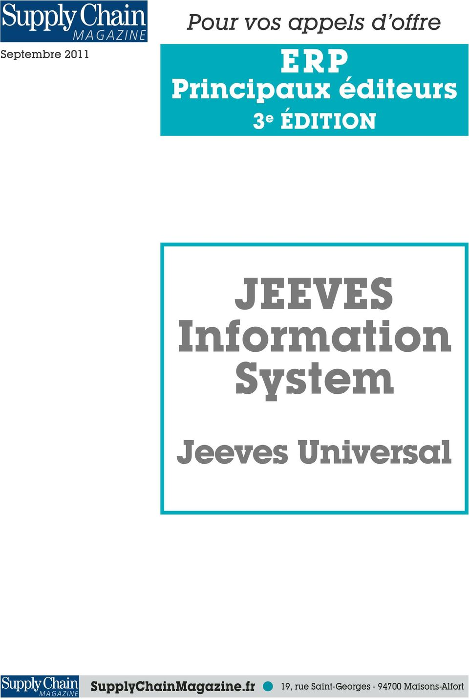 Information System Jeeves Universal