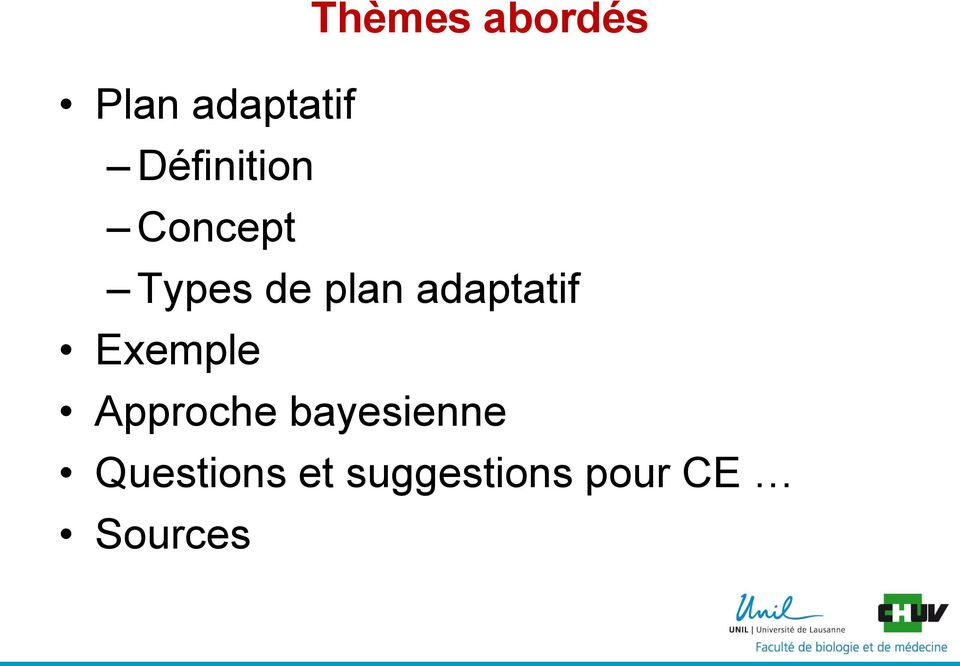 adaptatif Exemple Approche