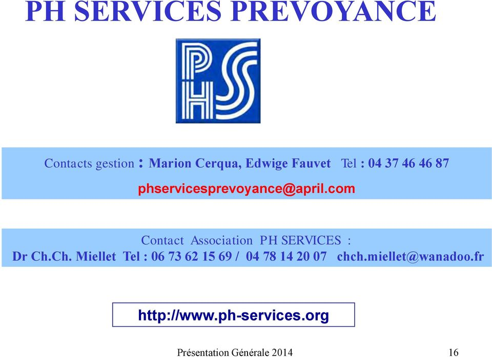 com Contact Association PH SERVICES : Dr Ch.