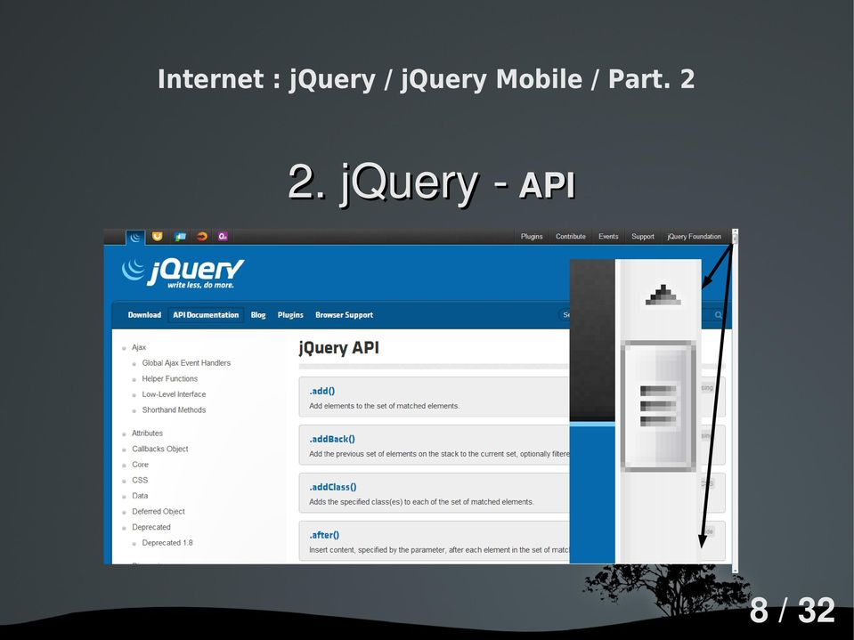 how to return page 2 in jquery mobile