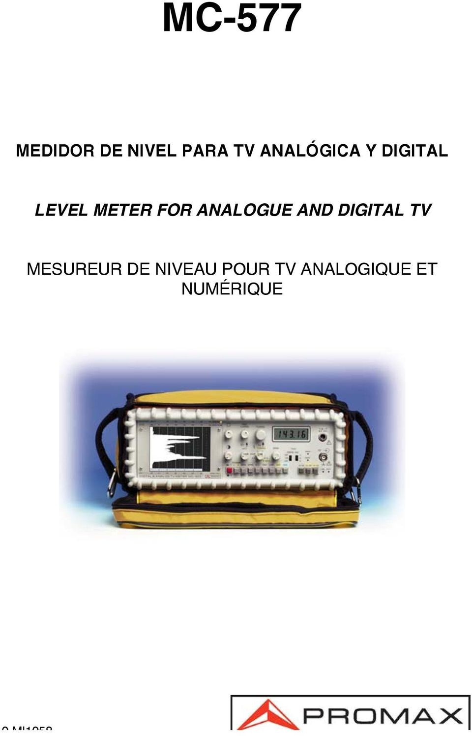 ANALOGUE AND DIGITAL TV MESUREUR DE