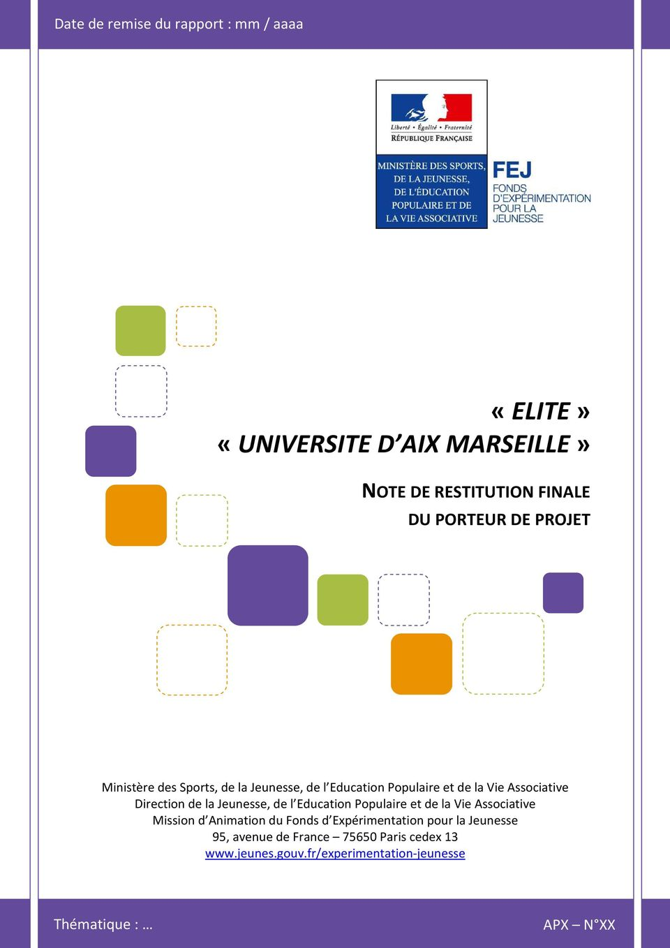 Associative Direction de la Jeunesse, de l Education Populaire et de la Vie Associative Mission d