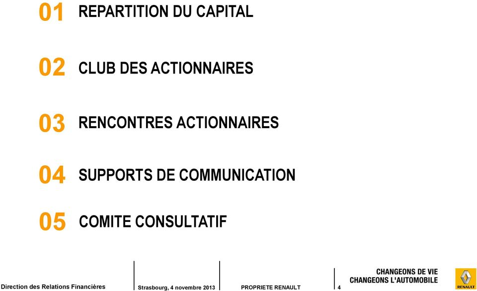 RENCONTRES ACTIONNAIRES SUPPORTS