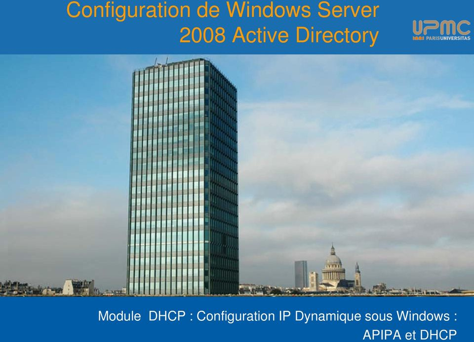 Module DHCP : Configuration IP