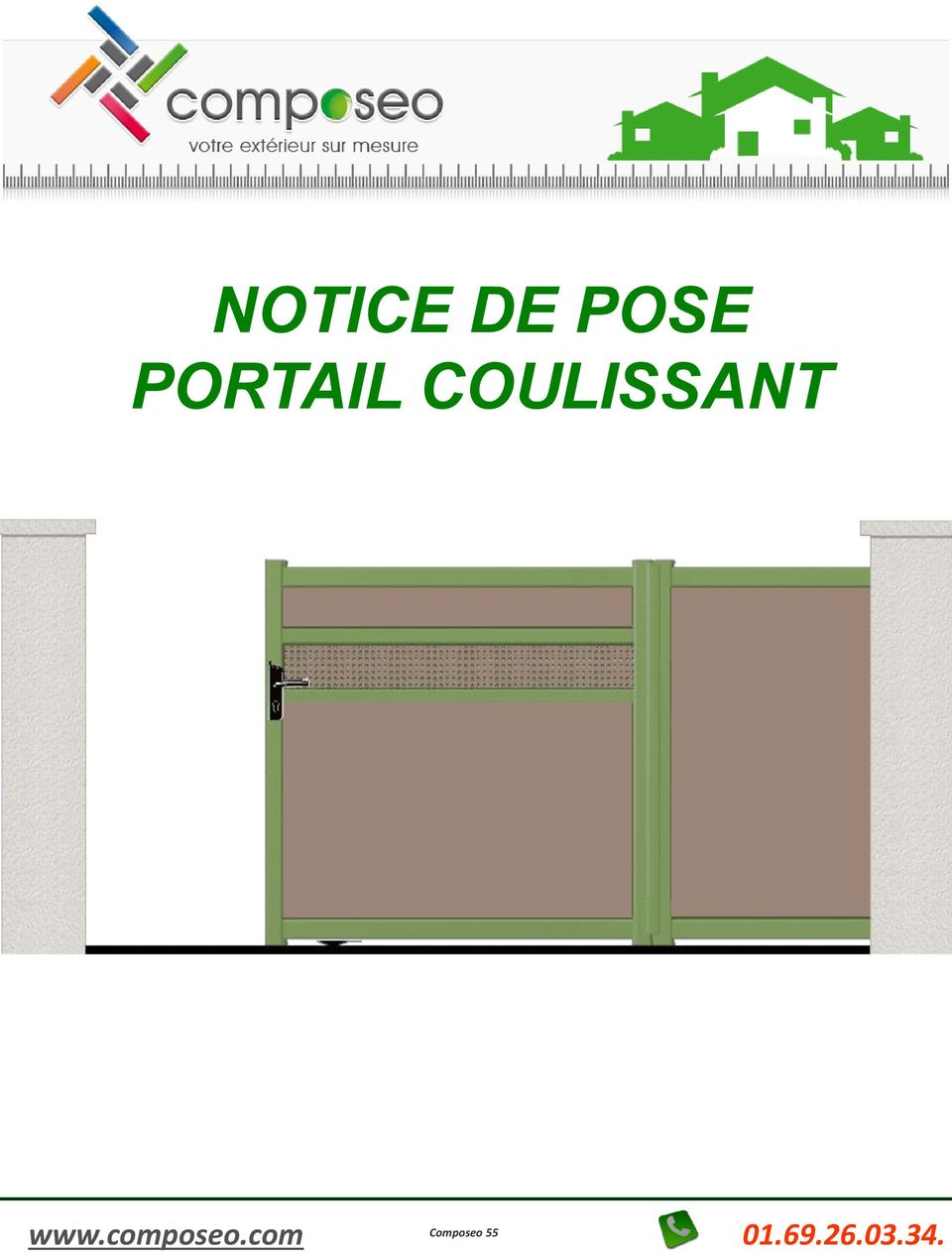 notice de pose portail coulissant pdf. Black Bedroom Furniture Sets. Home Design Ideas