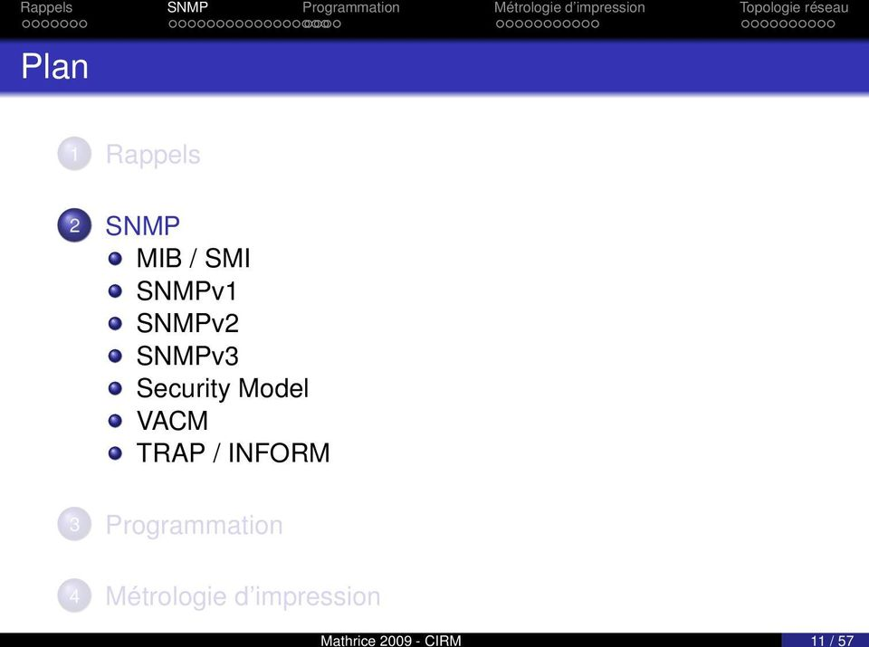 SNMPv3 Security Model VACM TRAP /