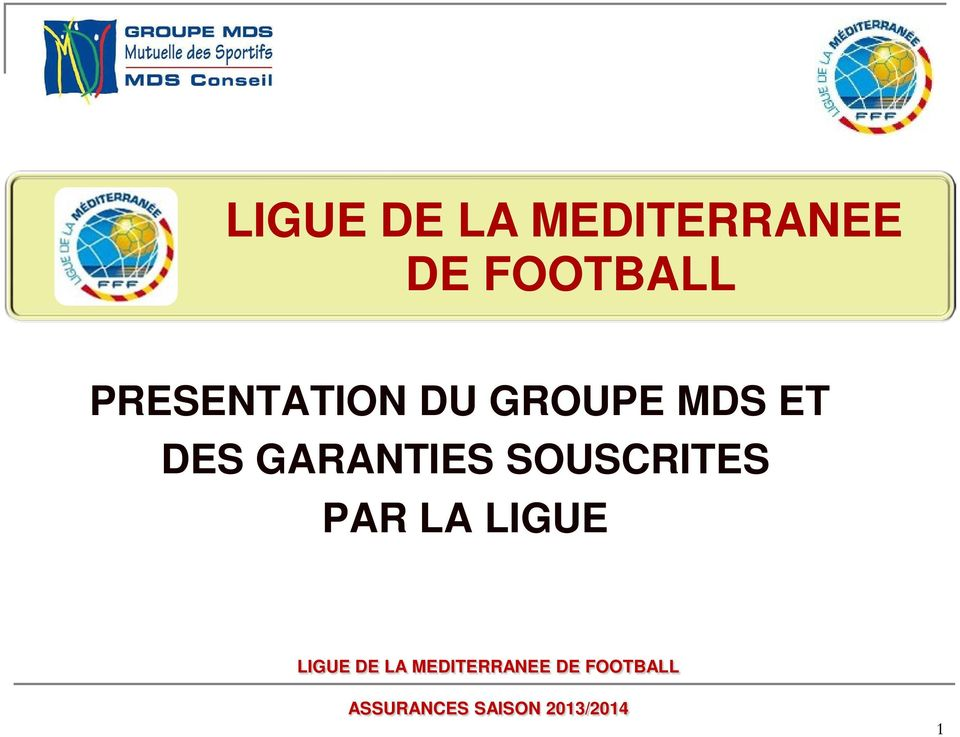 GARANTIES SOUSCRITES PAR LA LIGUE