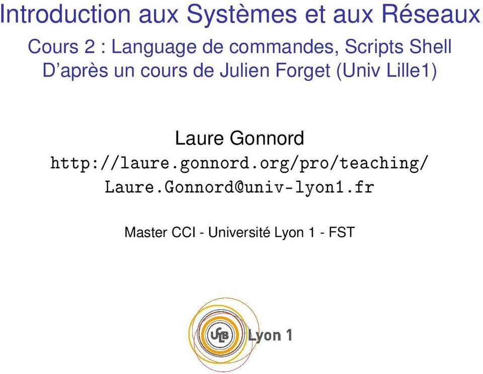 (Univ Lille1) Laure Gonnord http://laure.gonnord.