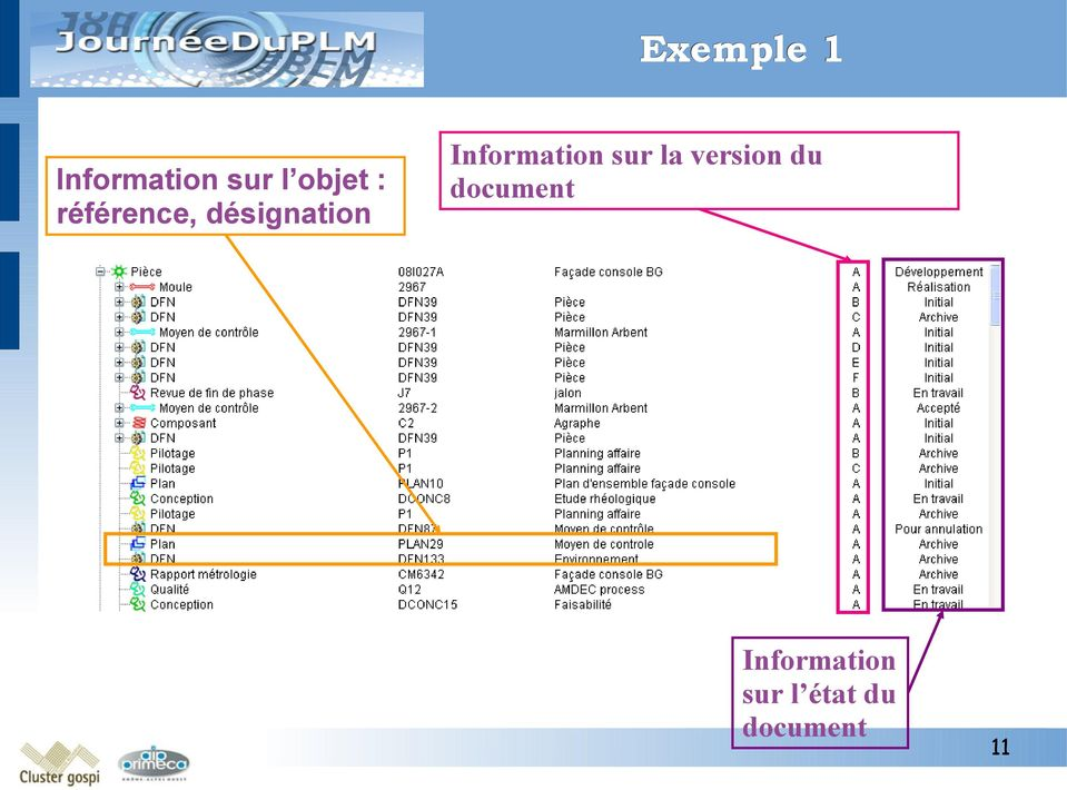 Information sur la version du