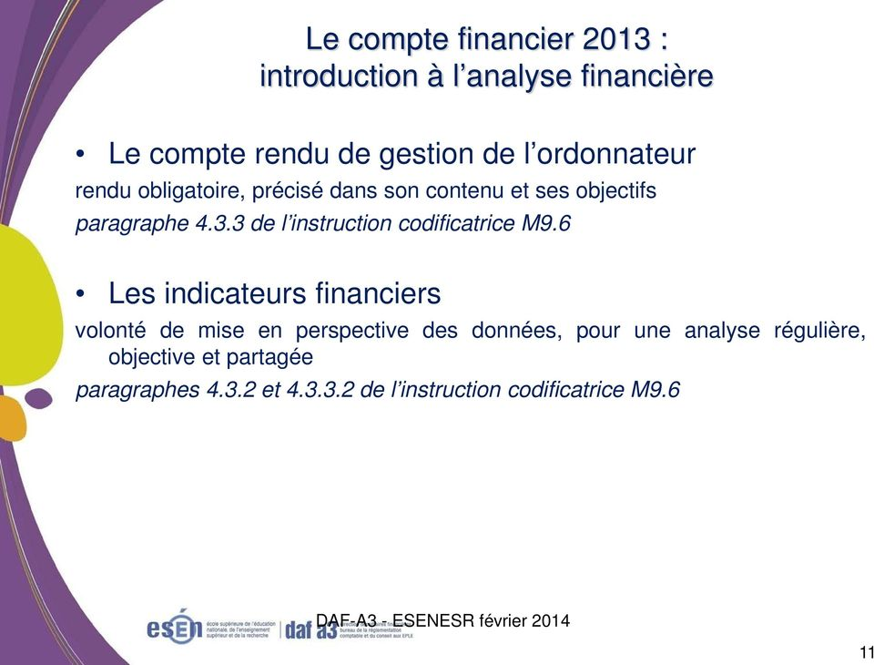 3 de l instruction codificatrice M9.