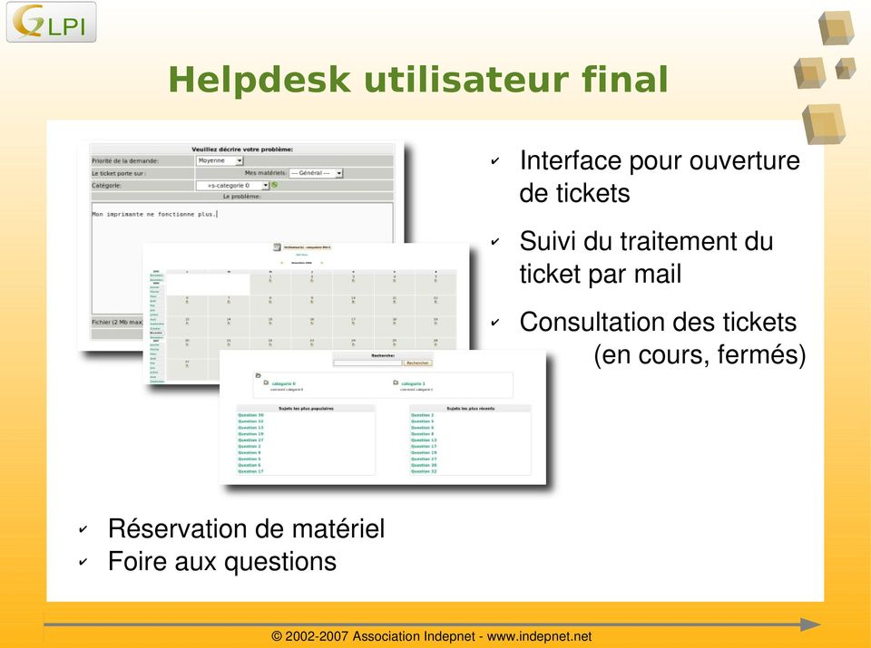 Consultationdestickets (encours,fermés)
