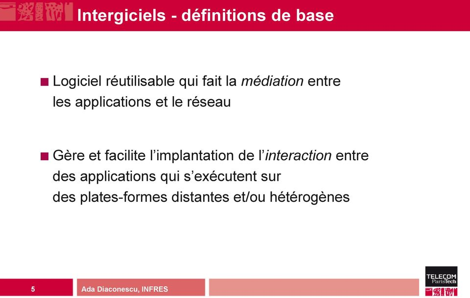 facilite l implantation de l interaction entre des applications
