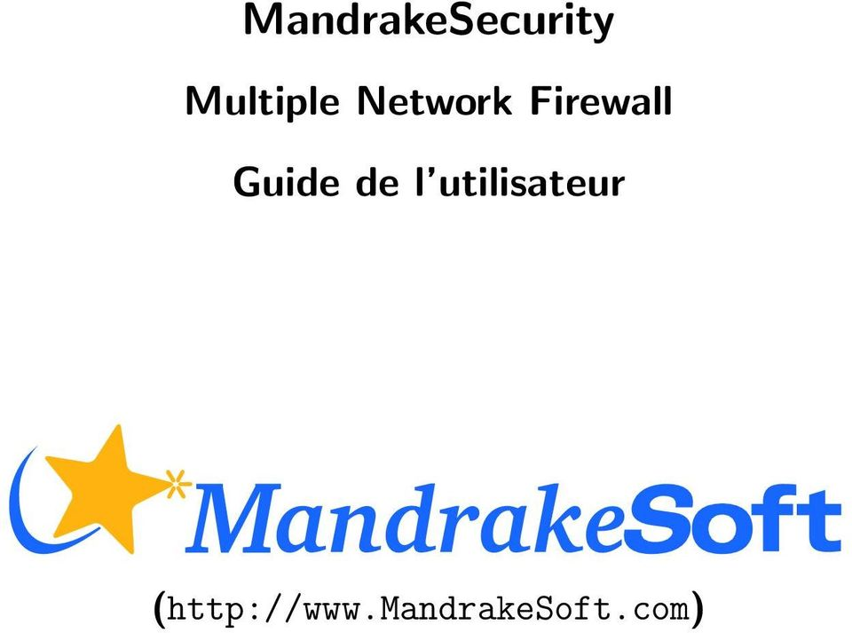 Firewall Guide de l
