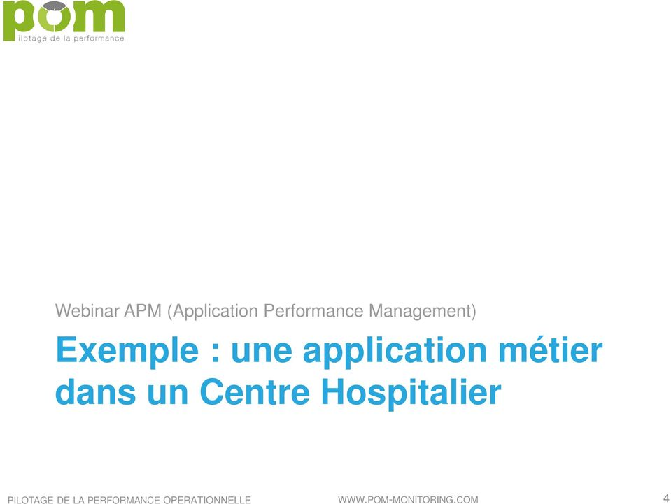 Exemple : une application