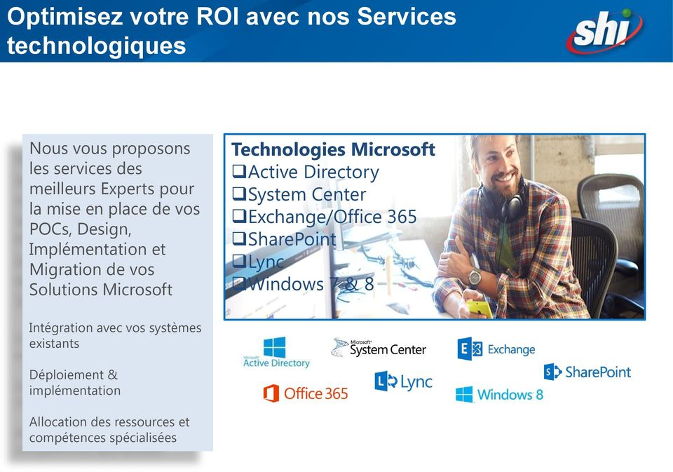 Technologies Microsoft Active Directory System Center Exchange/Office 365 SharePoint Lync Windows 7 & 8