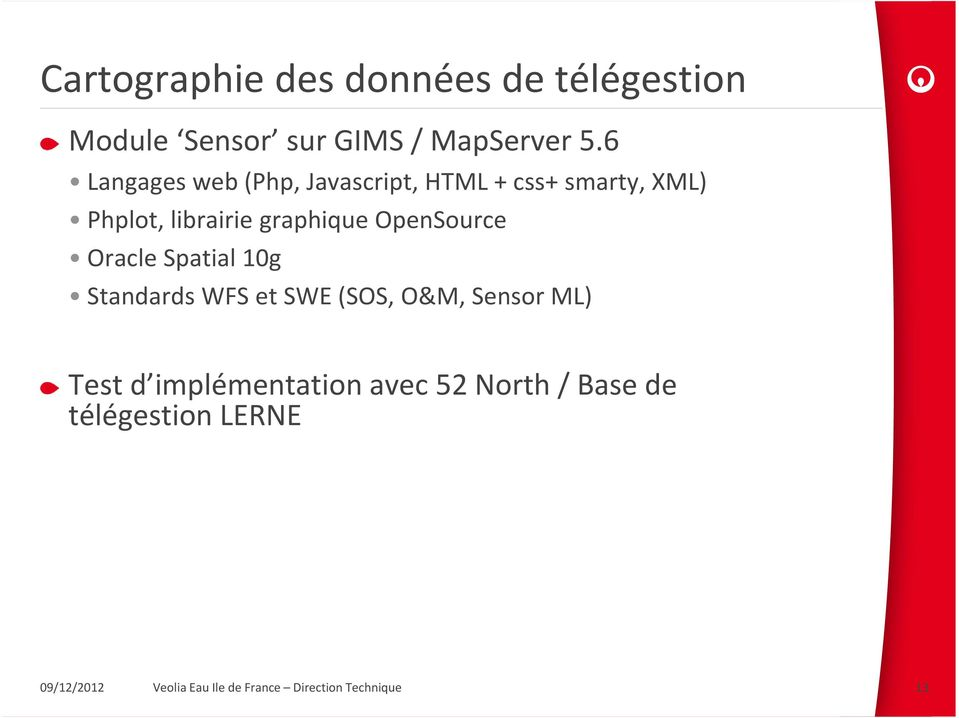 OpenSource Oracle Spatial 10g Standards WFS et SWE (SOS, O&M, Sensor ML) Test d