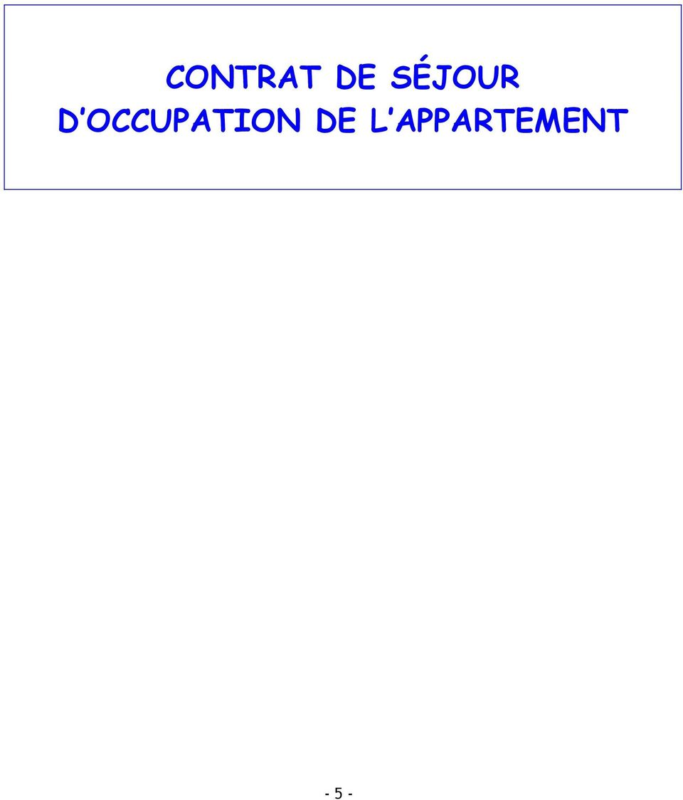 OCCUPATION DE