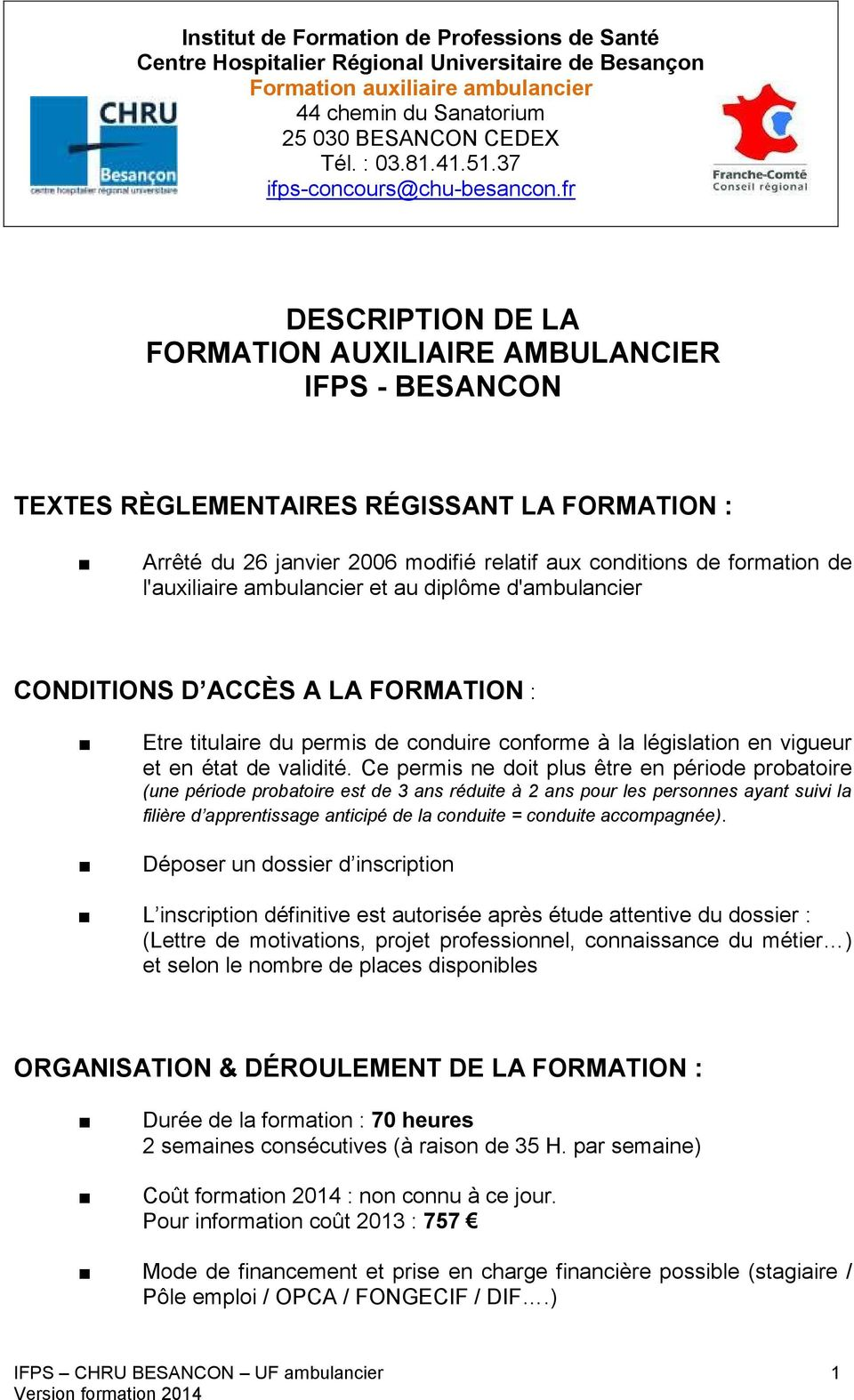 description du metier d auxiliaire ambulancier ifps besancon pdf. Black Bedroom Furniture Sets. Home Design Ideas