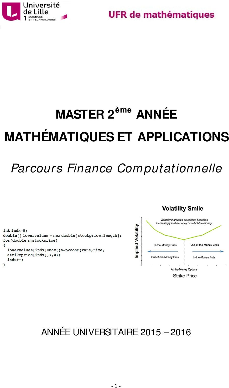 APPLICATIONS Parcours