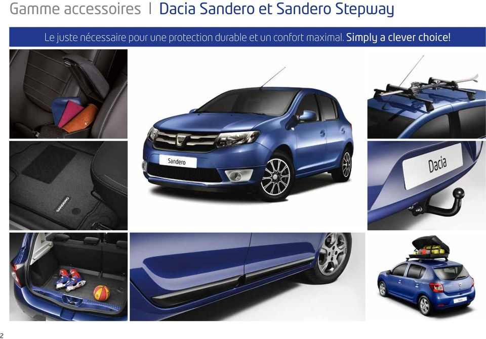 dacia sandero et sandero stepway gamme accessoires pdf. Black Bedroom Furniture Sets. Home Design Ideas