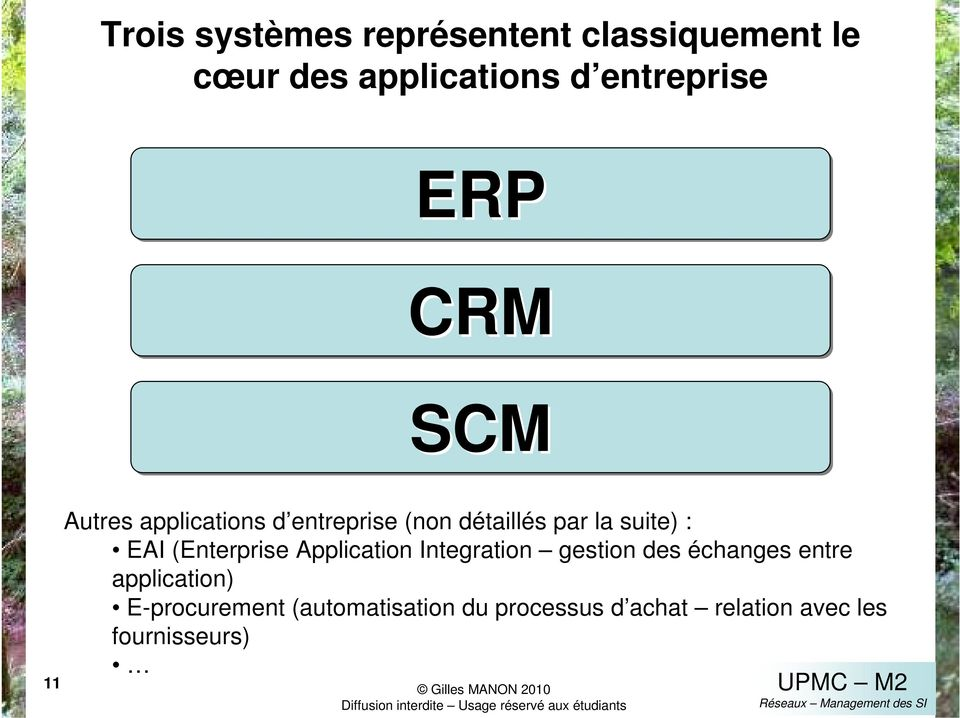 EAI (Enterprise Application Integration gestion des échanges entre