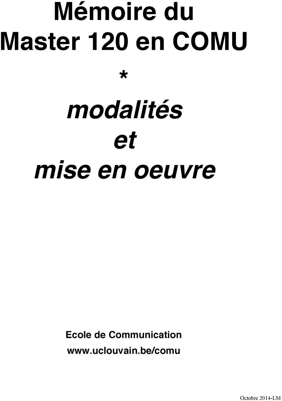 Ecole de Communication www.
