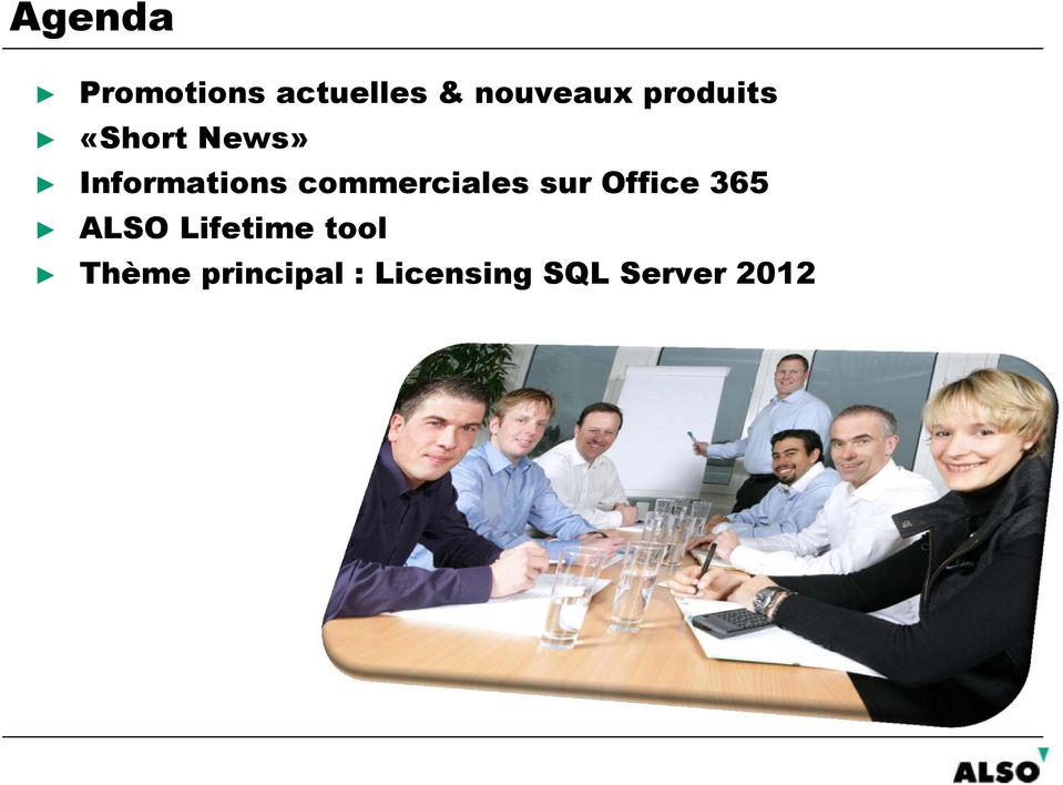 commerciales sur Office 365 ALSO