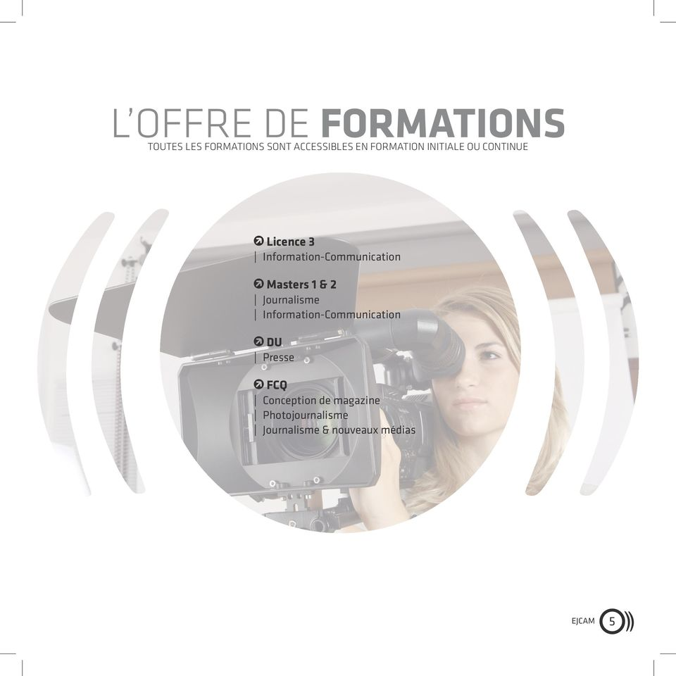 Masters 1 & 2 Journalisme Information-Communication DU Presse FCQ