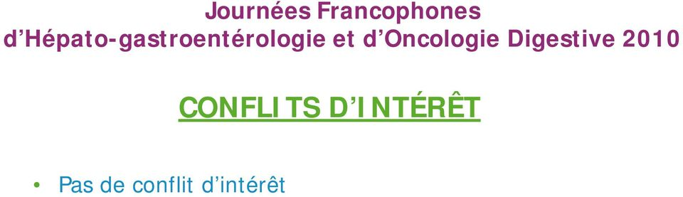 Oncologie Digestive 2010