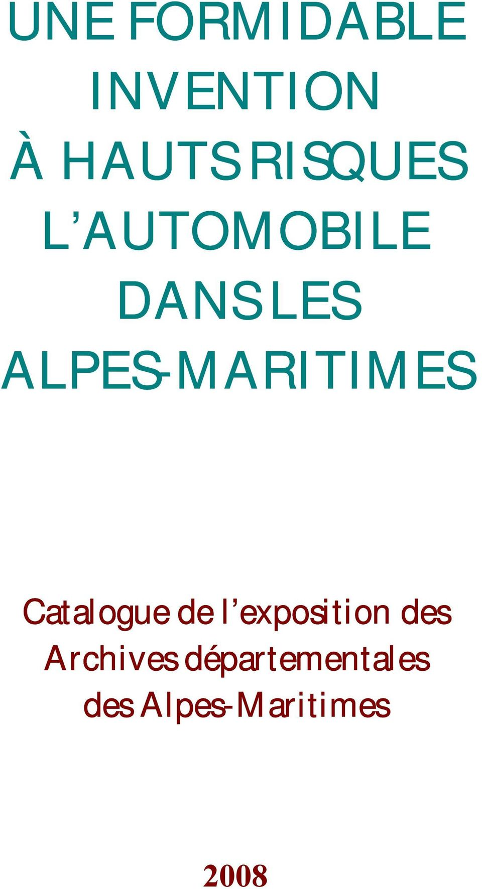 ALPES-MARITIMES Catalogue de l