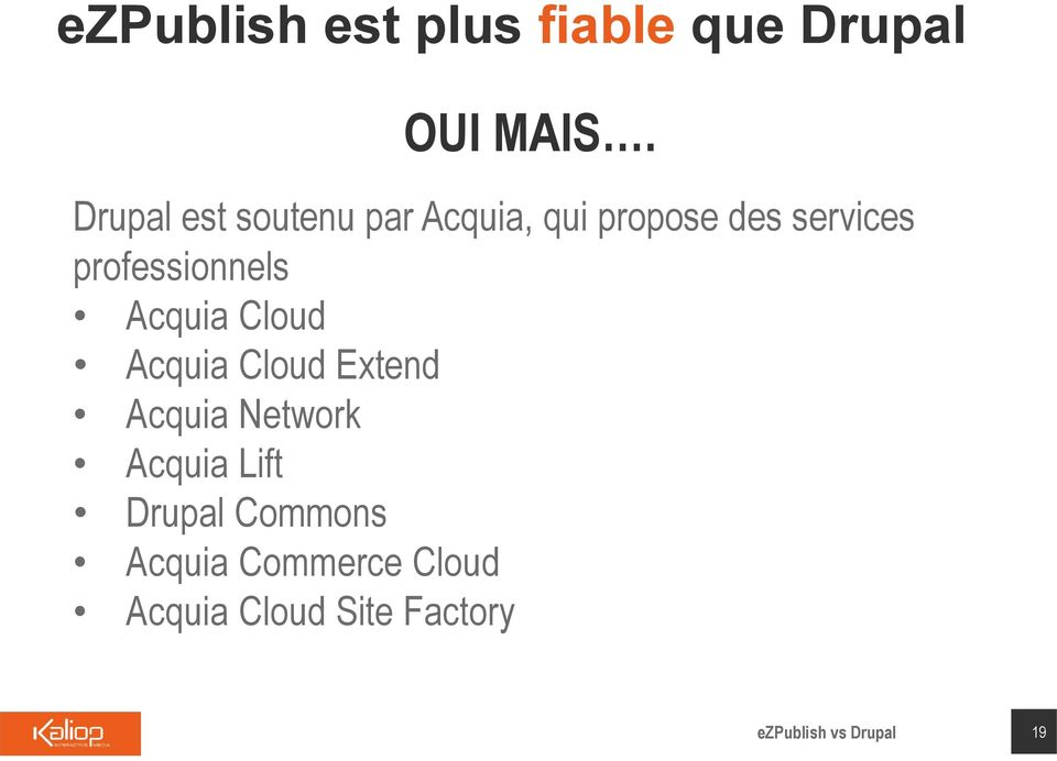 professionnels Acquia Cloud Acquia Cloud Extend Acquia Network