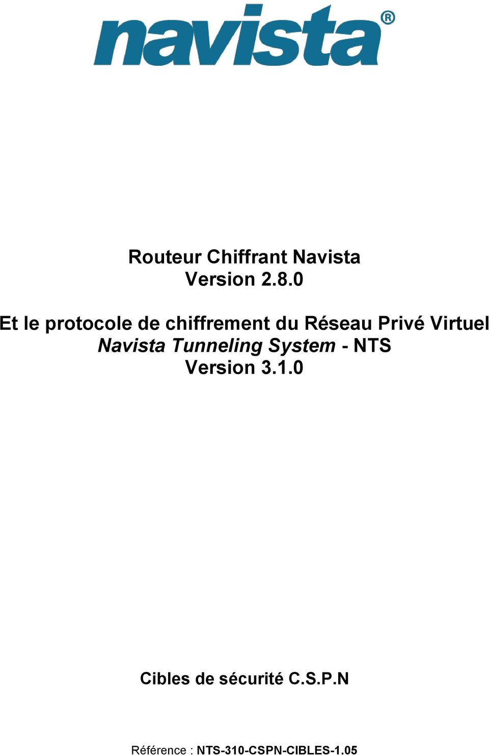 Virtuel Navista Tunneling System - NTS Version 3.1.