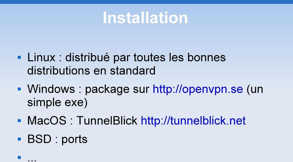 package sur http://openvpn.