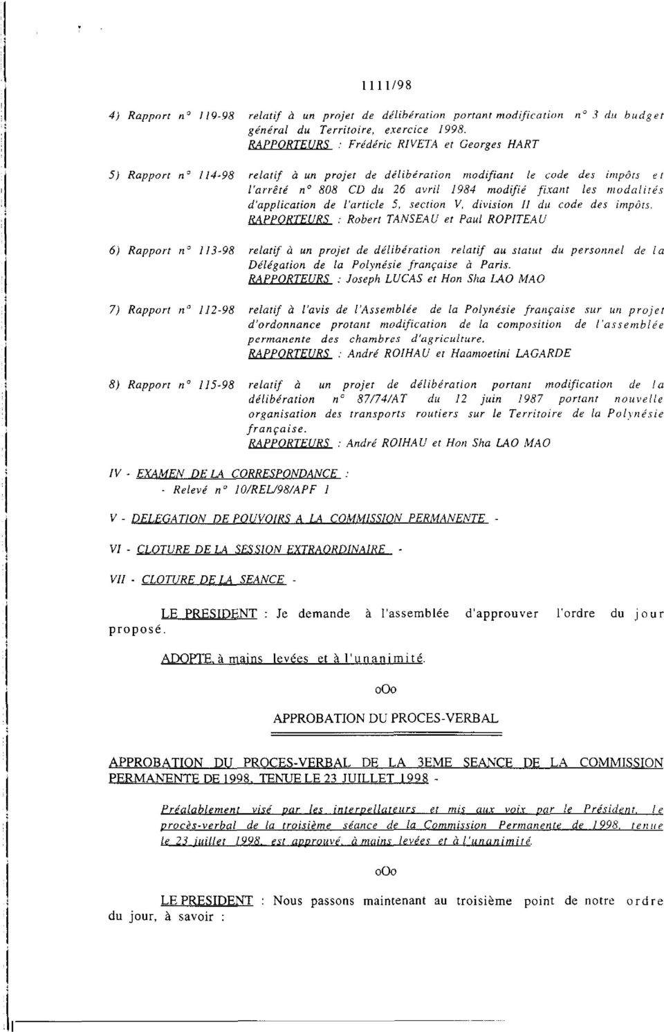 d'application de l'article 5, section V, division II du code des impôts.