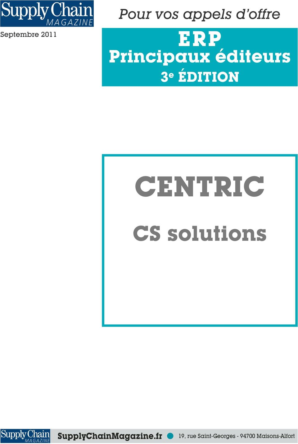 CENTRIC CS solutions SupplyChainMagazine.