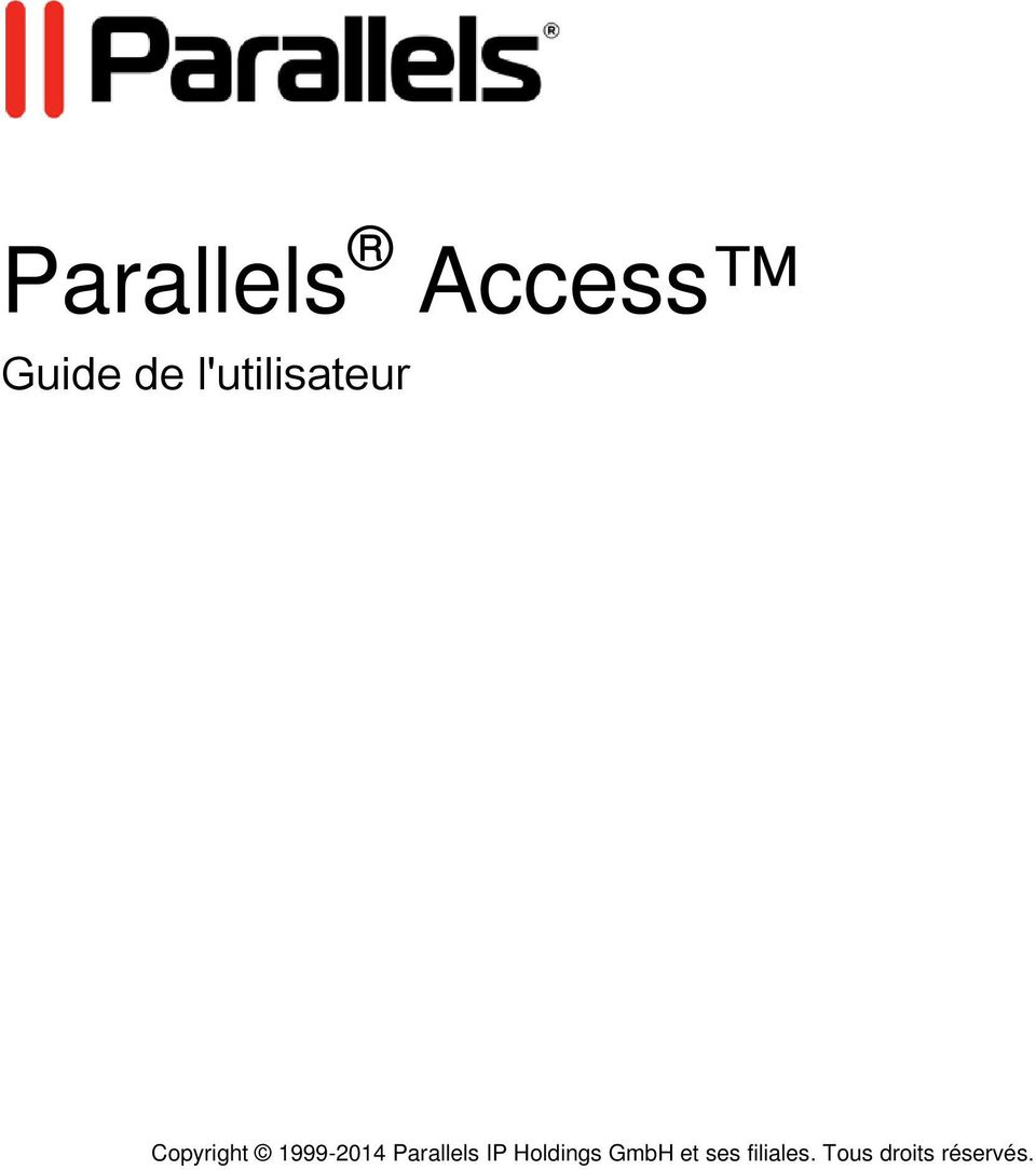 1999-2014 Parallels IP Holdings