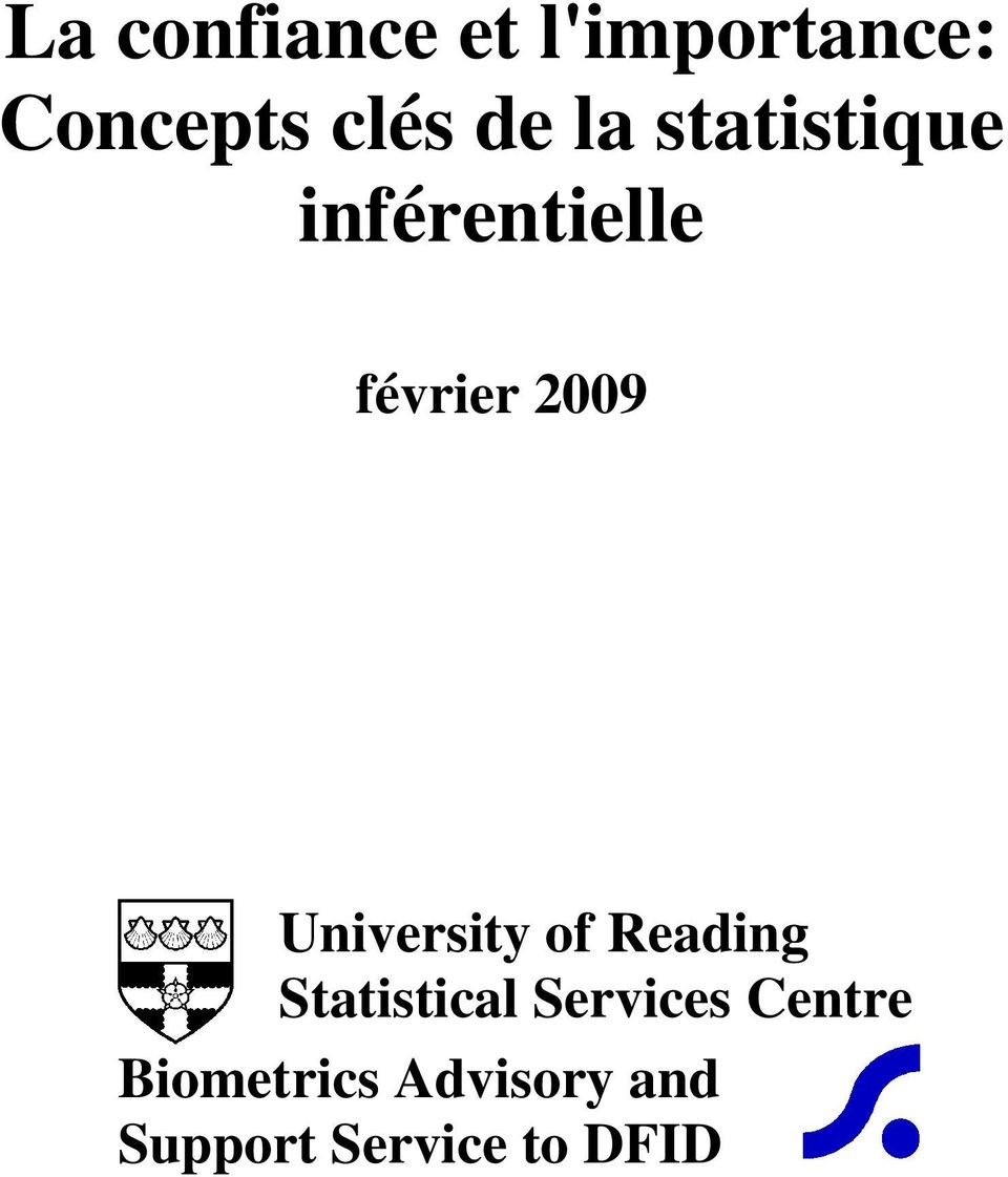 University of Reading Statistical Services