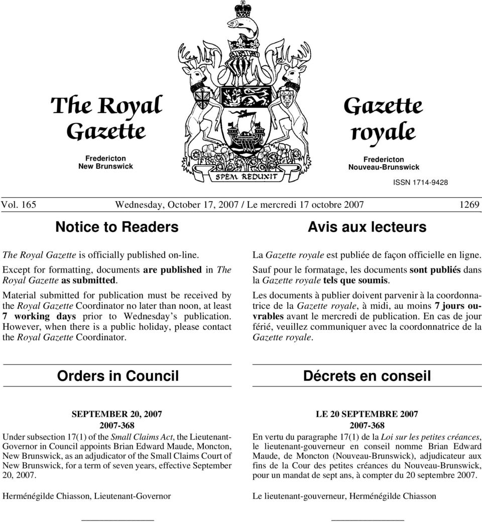 Except for formatting, documents are published in The Royal Gazette as submitted.