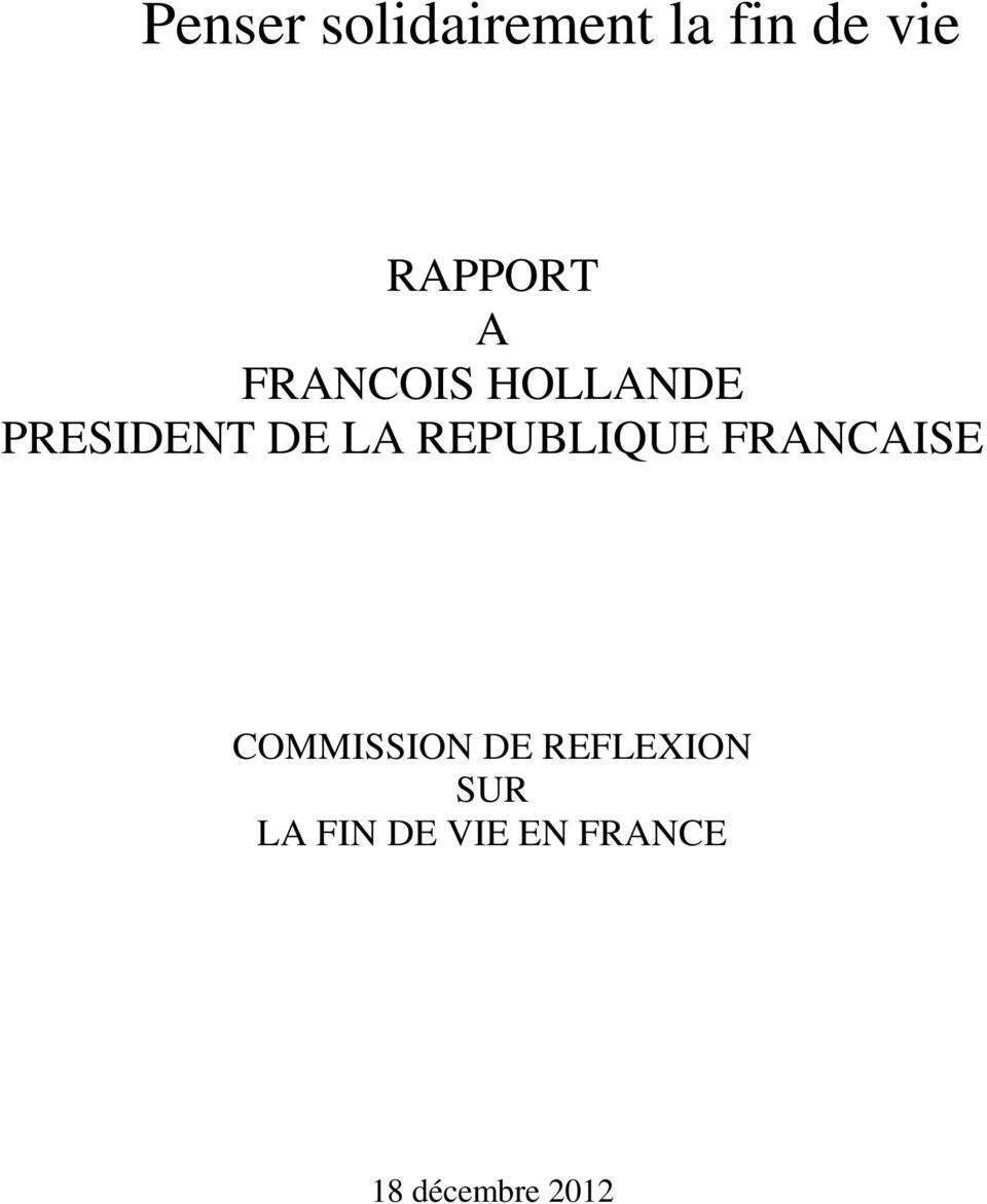 LA REPUBLIQUE FRANCAISE COMMISSION DE