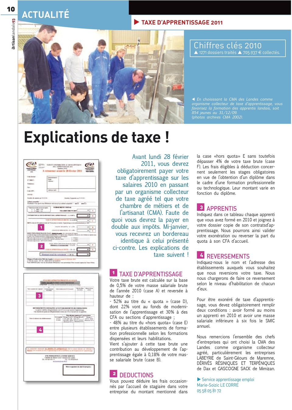 Explications de taxe!