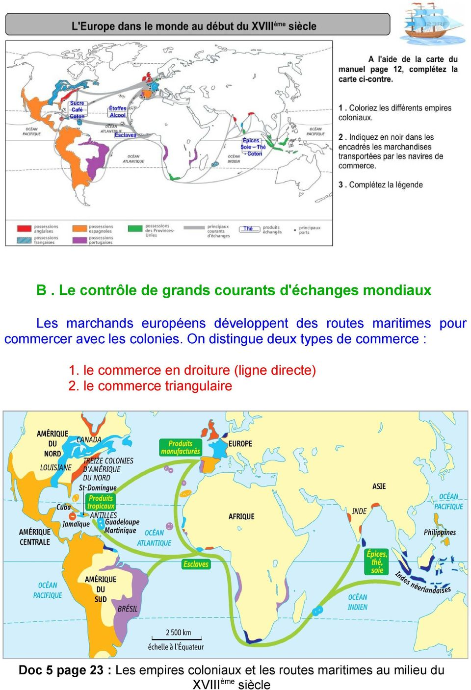 On distingue deux types de commerce : 1. le commerce en droiture (ligne directe) 2.