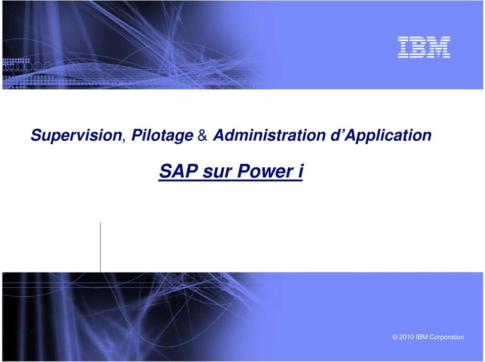 Application SAP sur