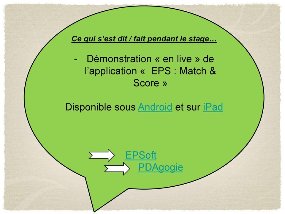 application «EPS : Match & Score»