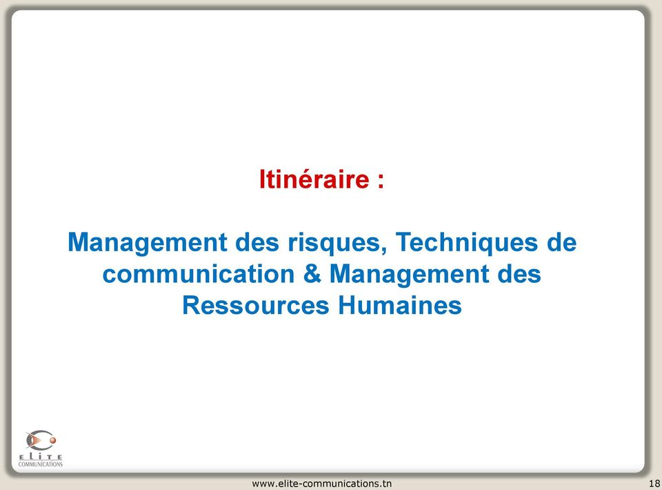 communication & Management des