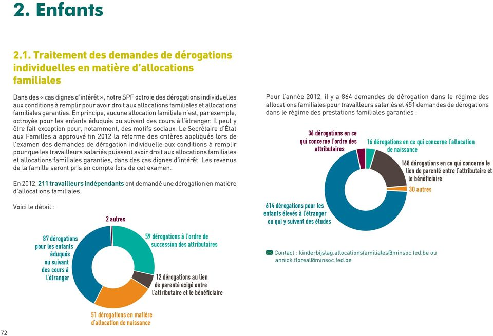avoir droit aux allocations familiales et allocations familiales garanties.