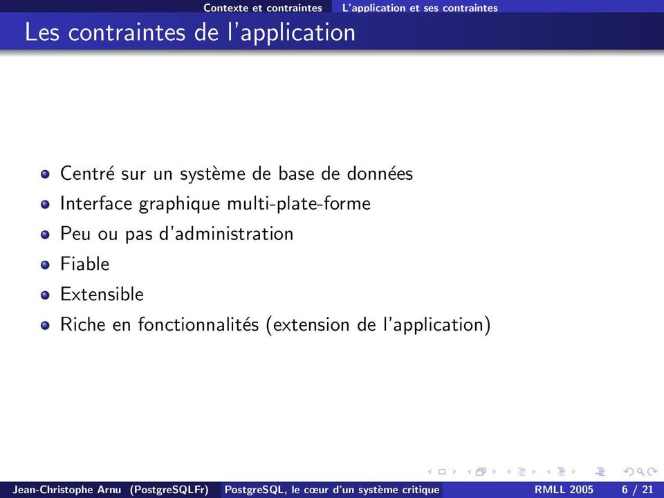 d administration Fiable Extensible Riche en fonctionnalités (extension de l application)